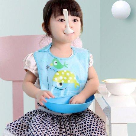 아기 아가 유아 이유식 식사 놀이 방수 분리형 턱받이