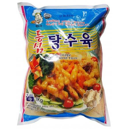 냉동식품 간식 반찬 등심 탕수육 1kg 4봉지 먹누리 냉동식품