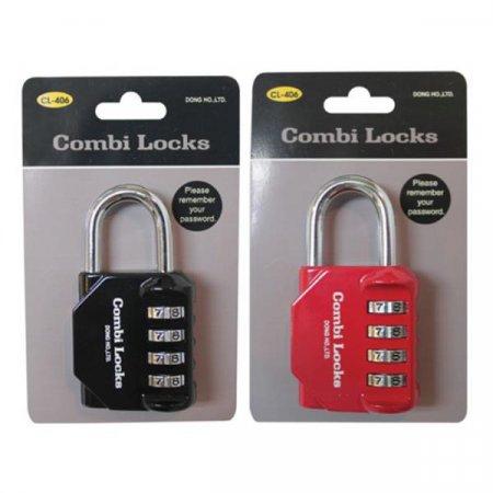 콤비락)자물쇠(CL-406)-색상임의배송 자물쇠