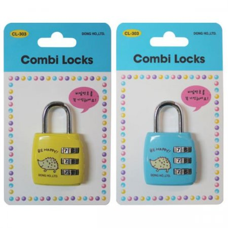 콤비락)자물쇠(CL-303)-색상임의배송 자물쇠