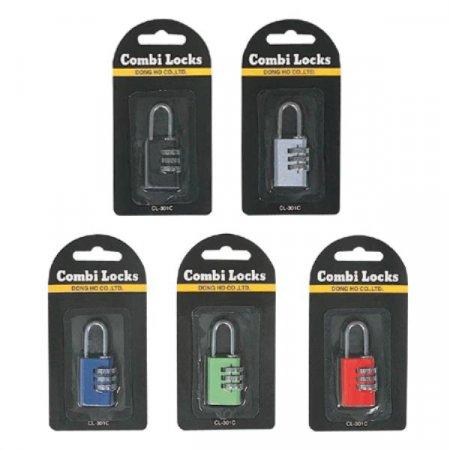 콤비락)자물쇠(CL-301C/B)-색상임의배송 자물쇠