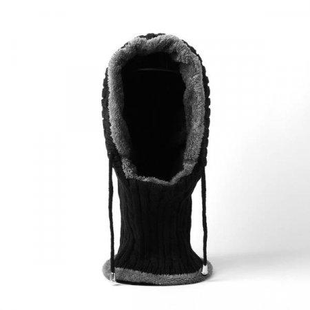 겨울필수품 글렌 넥워머 털모자 블랙 방한목토시