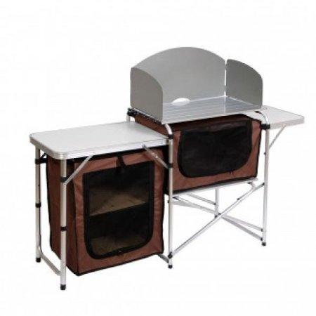 캠핑 알루미늄 요리테이블 /그릇수납(115x71cm)