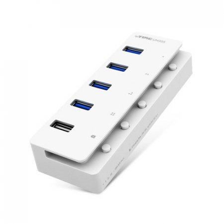 5포트 USB허브(UH305/화이트/IPTIME)