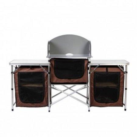 캠핑 알루미늄 요리테이블 /그릇수납(167x70cm)