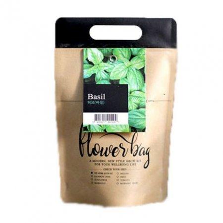 허브바질 미니화분 봉투 꽃화분 홈가드닝 식물키우기