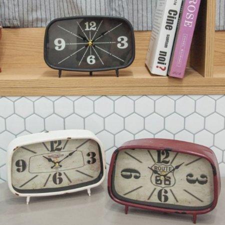 빈티지 직사각 탁상시계 30-1 홈데코 카페 소품
