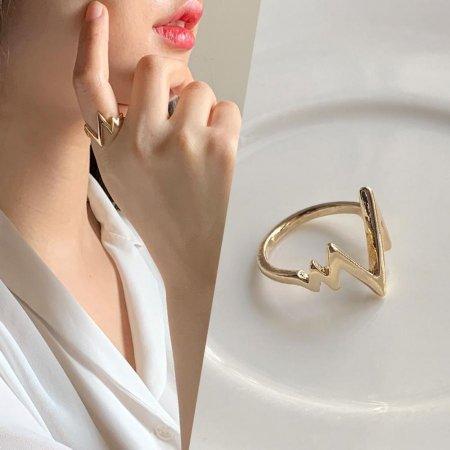 18kgp 써지컬 여성 반지 에리 패션 레이어드 심플
