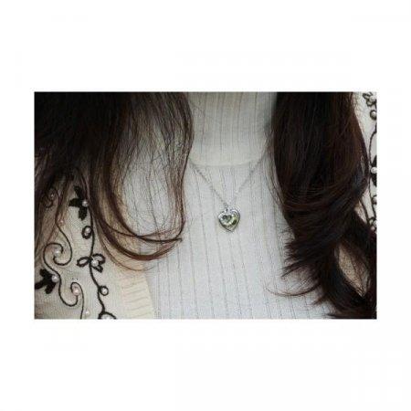 네잎 클로버 생화 목걸이, 예쁜 큐빅 하트 목걸이 쇼핑몰 추천, 패션 여자 크로바 잎사귀 네크리스