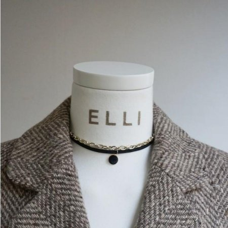 핸드메이드 초커목걸이, 벨벳 체인 쵸커목걸이, 겨울 패션 여자목걸이