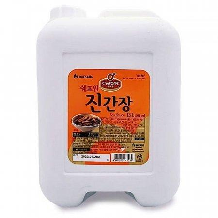 맛있는 감칠맛 쉐프원 진간장 업소용 말통 13L