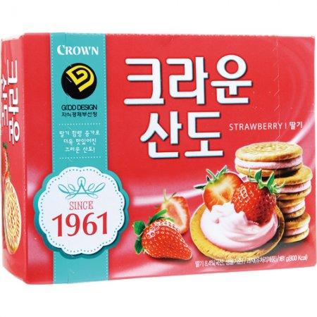 크라운산도(161g*2EA/8입/딸기맛/크라운제과)
