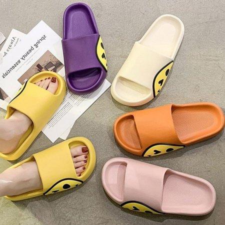 여성신발 스마일 컬러 샌들 여름 기본 슬리퍼