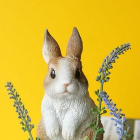 토끼 2P세트 미니어처 장식소품 거실장 선반 홈데코