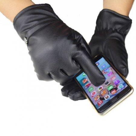 핸드폰 휴대폰 터치스크린 남자가죽장갑 여자방한장갑