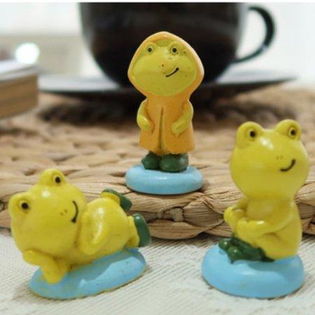 조각상 장화 신은 개구리 3P세트 선반장식품 인형소품