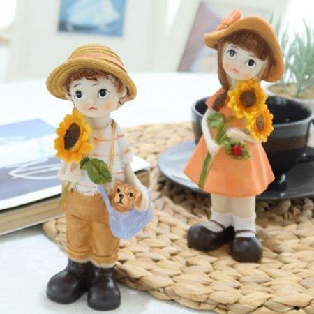 조형 해바라기 아이들 2P 장식품 조각상 인형소품