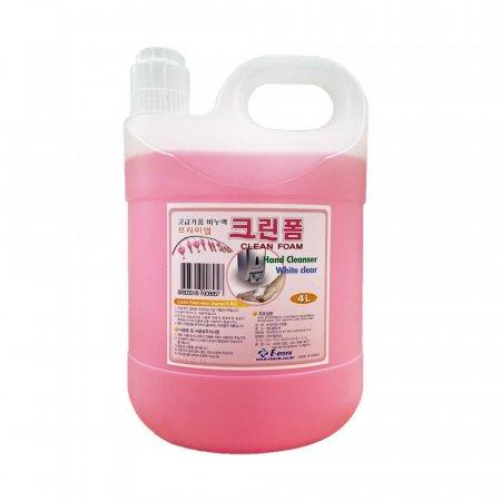 이알테크 거품용 핸드크리너 손세정제 핑크 4L x 4EA