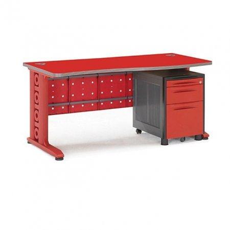 일자형 책상 1400 서재 사무 학생 컴퓨터 레드.레드