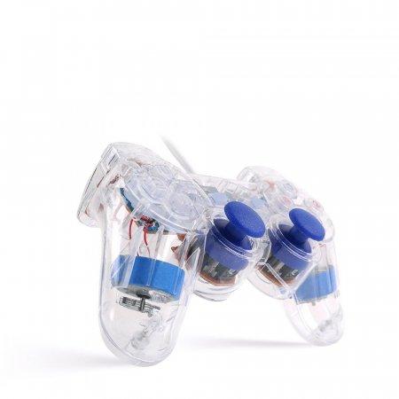 투명 유선 게임패드 / 조이스틱 게임컨트롤러 LCBT346