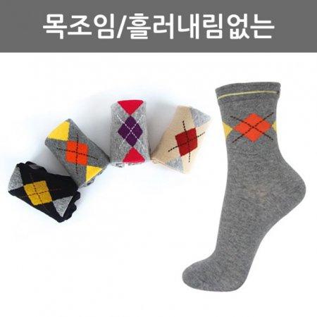 여자 케쥬얼양말(아가일) L16-02 1켤레