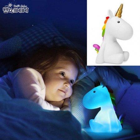 쁘띠베베 5색 수면무드등-유니콘