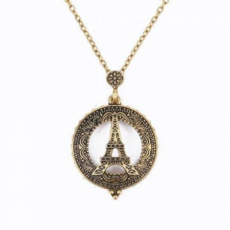 앤틱 레트로 노인 돋보기 목걸이 겸용 에펠탑