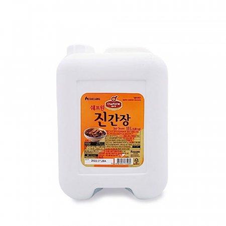 쉐프원 진간장 13L/ 대용량 말통 간장/ 식당 급식소