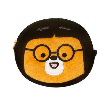 B패밀리 원형 파우치 안경 곰돌이 러블리 동전 지갑