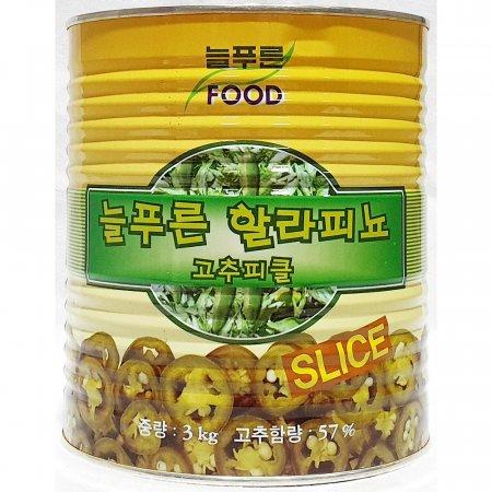 고추 피클 할라피뇨 늘푸른 3kg 슬라이스 업소 식당
