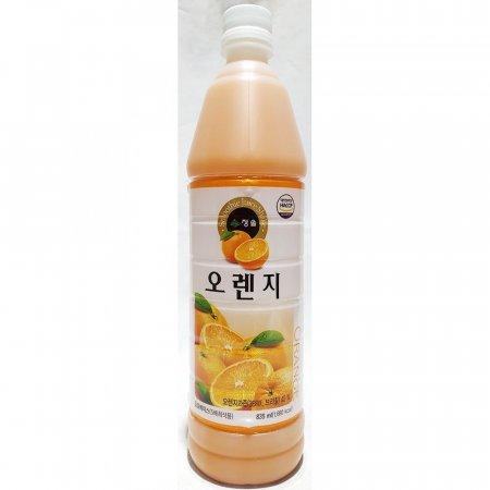 오렌지 원액 청솔 835ml x12개 과일 음료 베이스 과즙