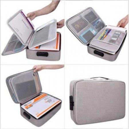 여행용 수납 보관 도어락 노트북 디지털 파우치