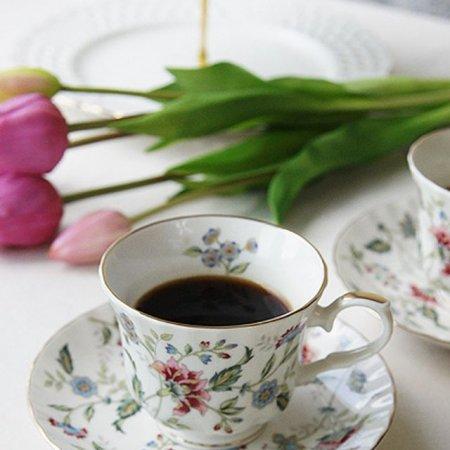 레트로한 복고패턴 미하루 커피잔 2인세트 Ver2